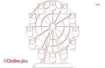 Ferris Giant Wheel Outline