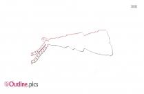 Figa Fist Pendant Outline Picture