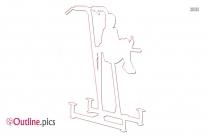 Fitness Dip Station Outline Free Vector Art