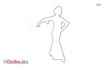 Dancer Pose Outline