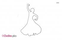 Belly Dancer Outline