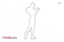 Flamenco Female Dancer Outline Drawing