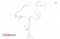 Flamingo Outline Image
