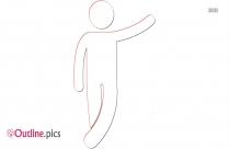Cartoon Stick Man Outline Image