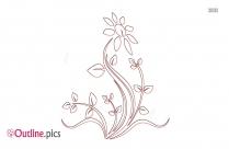 Outline Of Tulip Flower