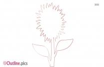 Flower Drawing Outline Design