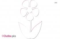 Flowers Outline Clip Art