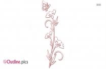 Flower Illustrations Outline Vector
