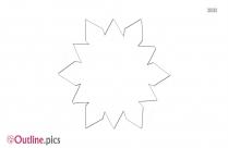 Cartoon Bluebell Flower Outline