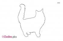 Cute Cat Outline