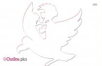 Flying Weasel Outline Image