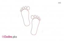 Human Footprints Outline Png Vector