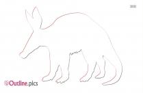 Aardvark Outline