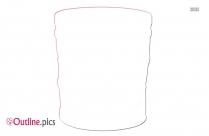 Free Basket Barrel Outline