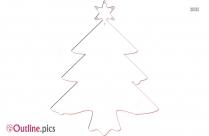 Christmas Pine Tree Outline Sketch