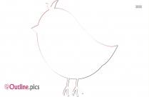 Free Cute Bird Outline