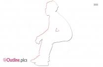 Sitting Outline Illustration