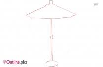 Free Patio Umbrella Outline