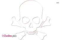 Pirate Skull And Crossbones Clip Art Outline