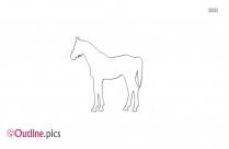 Friesian Horse Outline