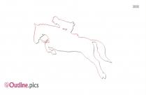 Horse Rider Outline Illustration