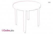 Garden Table Outline Illustration