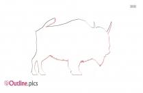 Giant Bison Outline Image