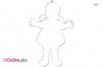 Girl Doll Clipart Outline