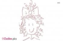 Cartoon Lady Outline Image