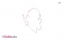 Stick Girl Outline