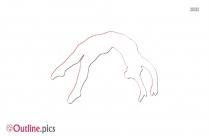Medidating Girl Free Clip Art Outline