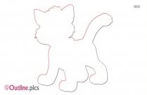 Baby Piglet Outline Image