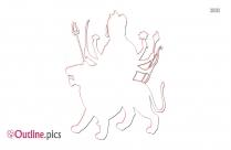 Goddess Durga Outline