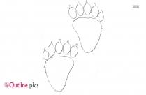 Gorilla Footprint Outline Clipart