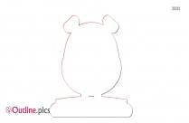 Guinea Pig Hamster Outline Image