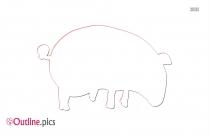 Guinea Pig Outline Background