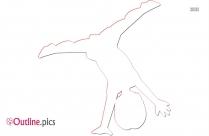 Gymnastics Cartoon Clip Art Outline