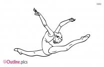 Gymnastics Girl Outline Vector