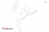 Gymnastics Handstand Clip Art Outline