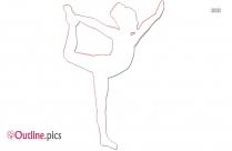 Gymnastics Tumbling Position Outline Sketch