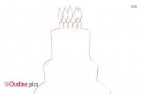 Happy Birthday Cake Outline Image