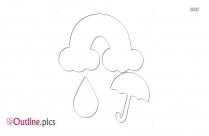 Happy Cartoon Raindrop Outline Image
