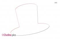 Hat Snowman Outline Image