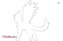 Hawk Wings Outline Illustration