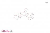 Heart Crown Outline Design