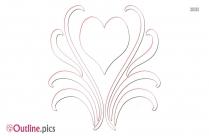 Heart Design Drawing Outline Clip Art