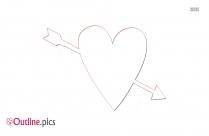Clipart Outline Of Heart Arrow