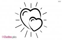 Scribble Heart Outline Vector