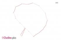 Cartoon Valentine Umbrella Outline