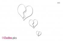 Heart Chain Outline Free Vector Art